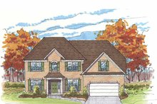 Home Plan - Traditional Exterior - Front Elevation Plan #435-23