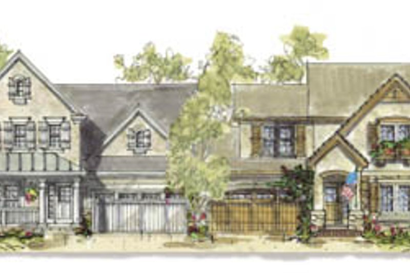 Cottage Exterior - Front Elevation Plan #20-1257