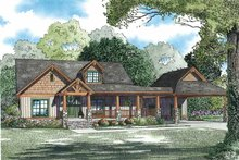 Home Plan - Country Exterior - Front Elevation Plan #17-3349