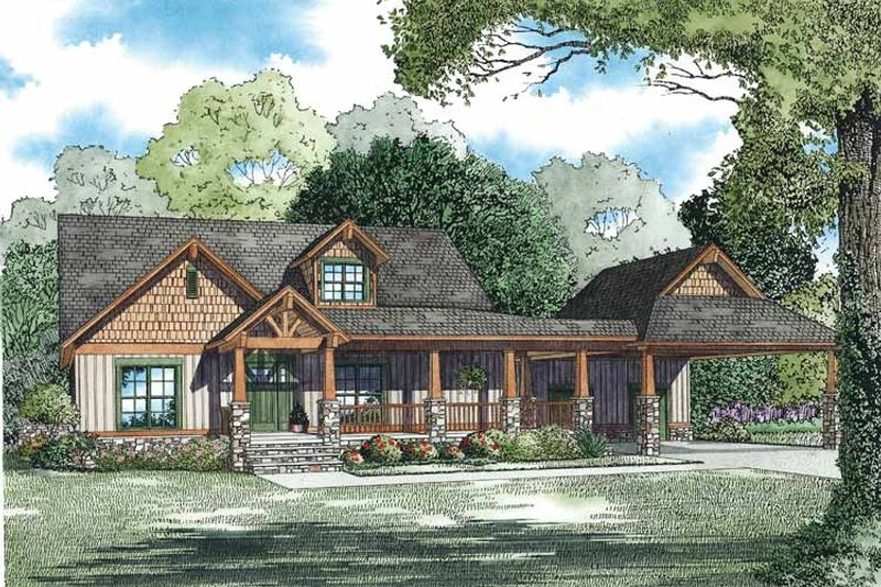 Country Exterior - Front Elevation Plan #17-3349
