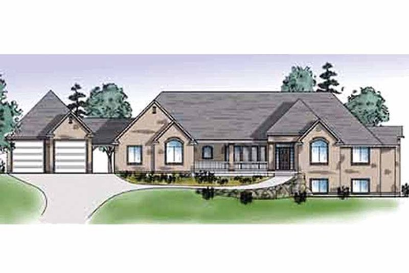 Traditional Exterior - Front Elevation Plan #945-27 - Houseplans.com