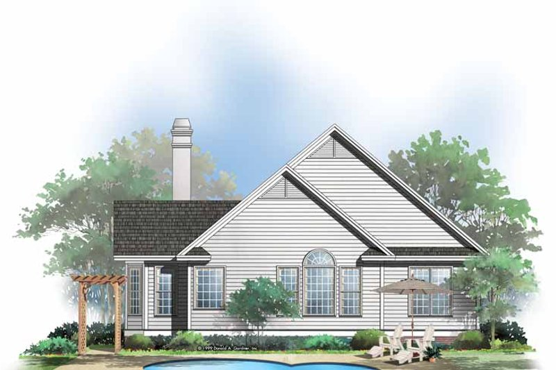 Country Exterior - Rear Elevation Plan #929-510