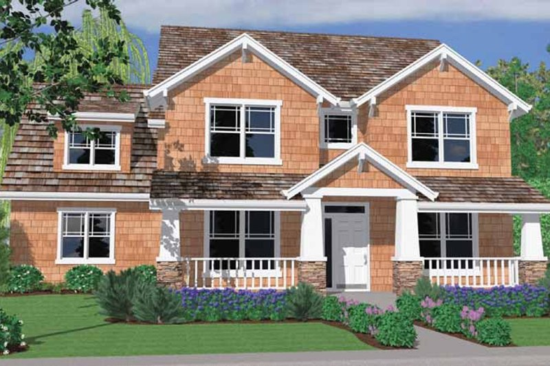 Traditional Exterior - Front Elevation Plan #509-336