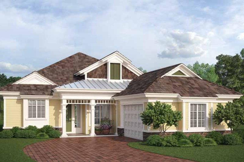 Country Style House Plan - 3 Beds 2.5 Baths 2576 Sq/Ft Plan #938-5 Exterior - Front Elevation