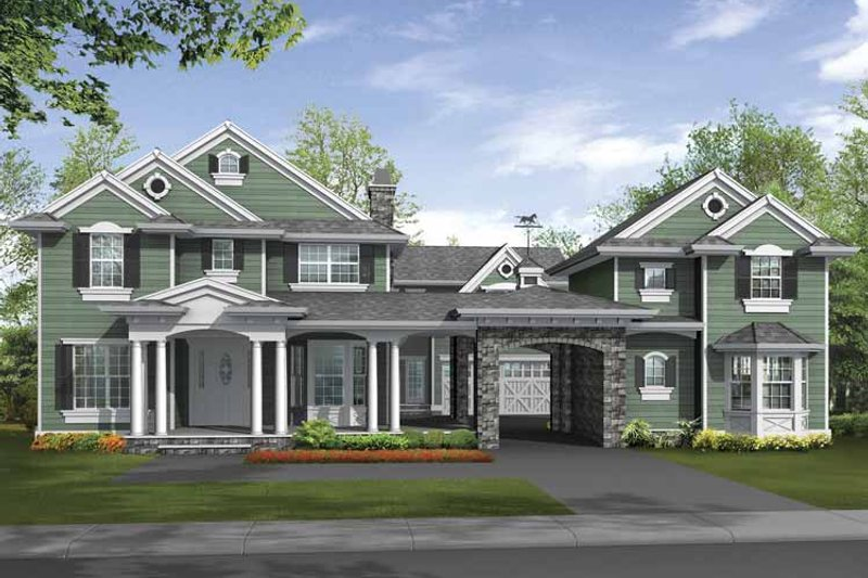 Traditional Exterior - Front Elevation Plan #132-504 - Houseplans.com