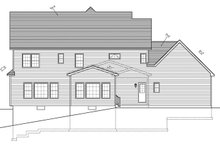 Home Plan - Traditional Exterior - Rear Elevation Plan #1010-94