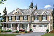 Dream House Plan - Craftsman Exterior - Front Elevation Plan #132-375