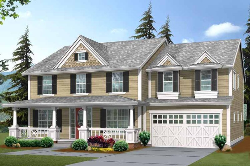 Craftsman Exterior - Front Elevation Plan #132-375 - Houseplans.com