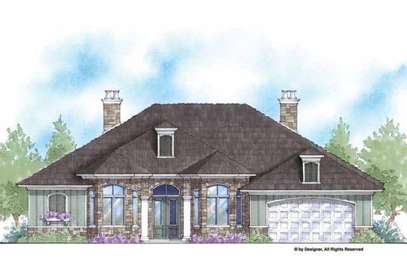 Country Exterior - Front Elevation Plan #938-58