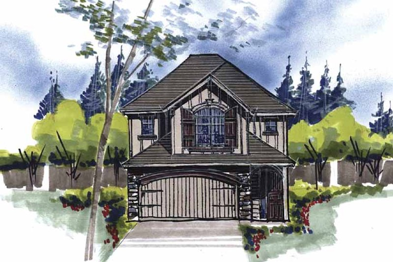 Country Exterior - Front Elevation Plan #509-139 - Houseplans.com