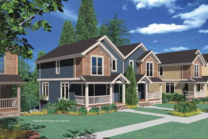 Country Exterior - Front Elevation Plan #48-825