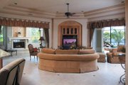 Mediterranean Style House Plan - 4 Beds 5 Baths 5162 Sq/Ft Plan #930-317 Interior - Family Room