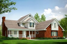 Home Plan - Farmhouse Exterior - Front Elevation Plan #124-176