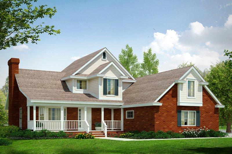Dream House Plan - Farmhouse Exterior - Front Elevation Plan #124-176