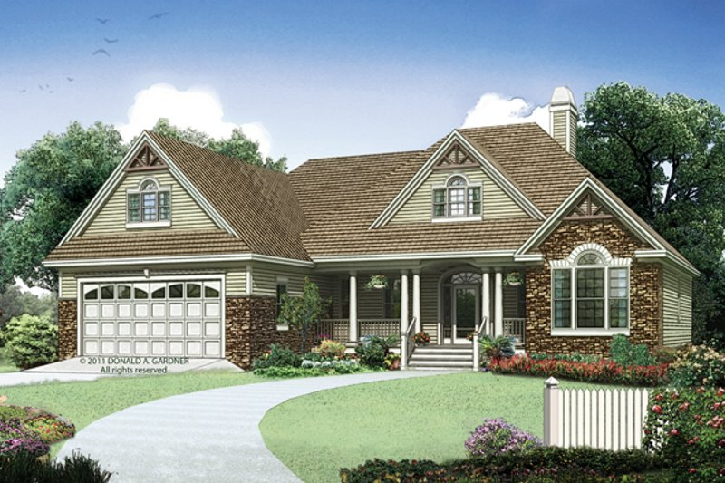 Country Exterior - Front Elevation Plan #929-940 - Houseplans.com