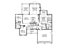 Ranch Floor Plan - Main Floor Plan Plan #1010-185