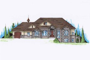 Country Exterior - Front Elevation Plan #945-120