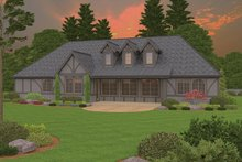 Tudor Exterior - Rear Elevation Plan #943-44