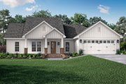 Craftsman Style House Plan - 3 Beds 2 Baths 1675 Sq/Ft Plan #430-78 Exterior - Front Elevation