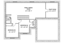 Ranch Floor Plan - Lower Floor Plan Plan #1060-36