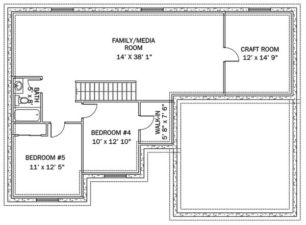 Dream House Plan - Ranch Floor Plan - Lower Floor Plan #1060-36