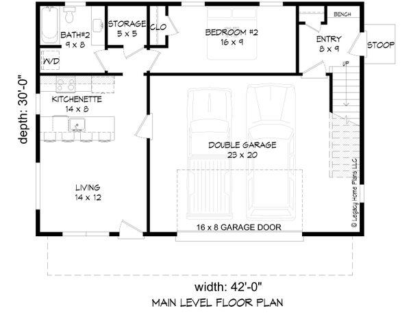 House Blueprint - Modern Floor Plan - Lower Floor Plan #932-371