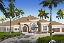 Home Plan - European Exterior - Front Elevation Plan #23-789