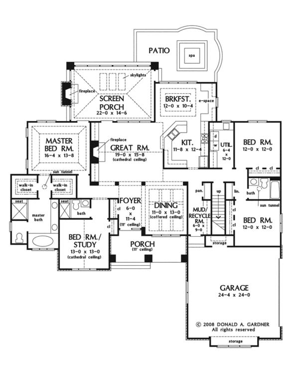 Cottage Floor Plan - Main Floor Plan Plan #929-927