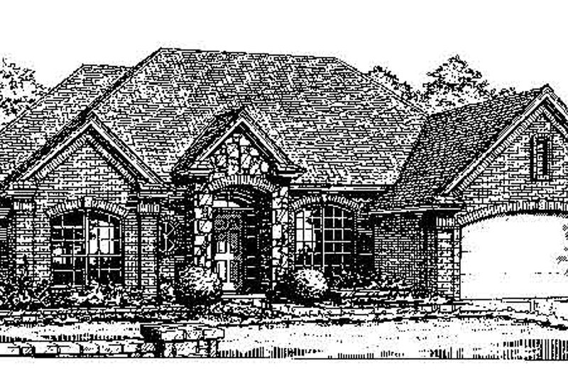 House Plan - 3 Beds 2.5 Baths 2363 Sq/Ft Plan #310-738 Exterior - Front Elevation