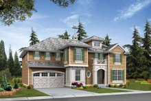 Craftsman Exterior - Front Elevation Plan #132-418