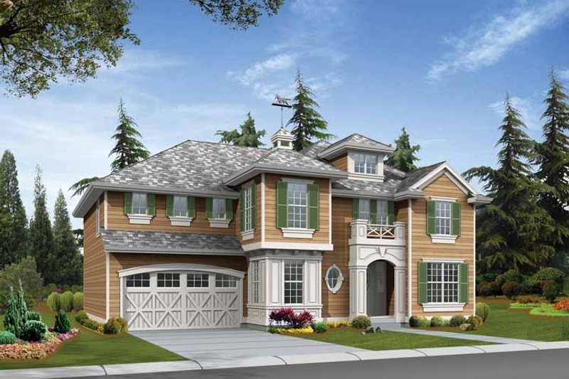 Dream House Plan - Craftsman Exterior - Front Elevation Plan #132-418