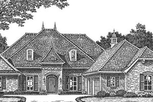 Dream House Plan - Country Exterior - Front Elevation Plan #310-1269