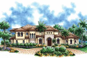 House Design - Mediterranean Exterior - Front Elevation Plan #1017-39