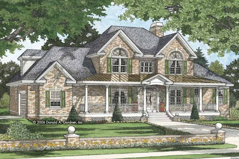 Dream House Plan - Traditional Exterior - Front Elevation Plan #929-817