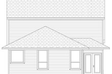 House Plan Design - European Exterior - Rear Elevation Plan #84-566