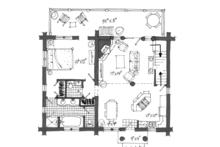 Log Floor Plan - Main Floor Plan Plan #942-23