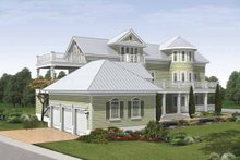 Home Plan - Traditional Exterior - Rear Elevation Plan #930-409