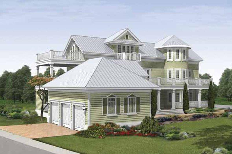 Traditional Exterior - Rear Elevation Plan #930-409 - Houseplans.com