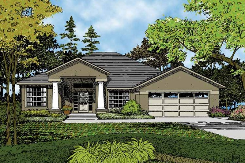 Home Plan - Contemporary Exterior - Front Elevation Plan #1015-41