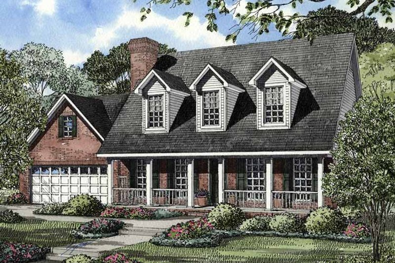 Country Exterior - Front Elevation Plan #17-2759 - Houseplans.com