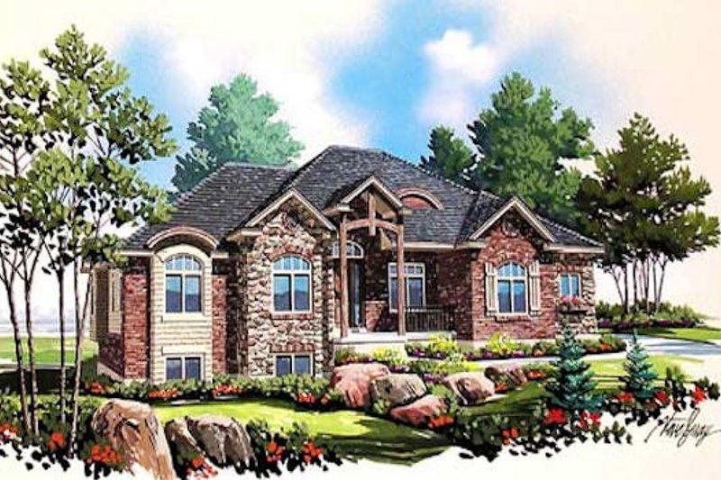 Dream House Plan - European Exterior - Front Elevation Plan #5-229