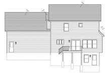 Country Exterior - Rear Elevation Plan #1010-78