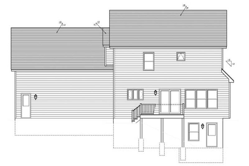 Country Exterior - Rear Elevation Plan #1010-78 - Houseplans.com