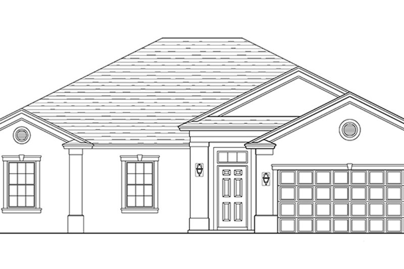 Traditional Exterior - Front Elevation Plan #1058-119 - Houseplans.com