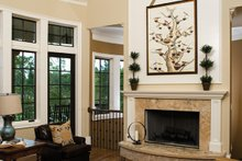 European Interior - Family Room Plan #929-892
