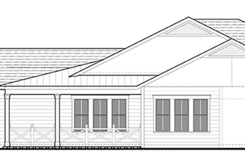 Ranch Exterior - Other Elevation Plan #1058-98 - Houseplans.com
