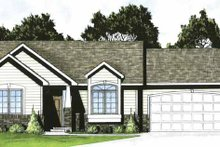 Home Plan - Traditional Exterior - Front Elevation Plan #58-221