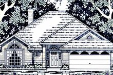 House Plan Design - Country Exterior - Front Elevation Plan #42-659