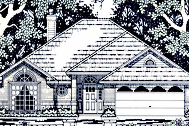 Country Exterior - Front Elevation Plan #42-659