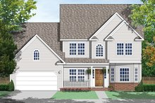 Country Exterior - Front Elevation Plan #1053-70